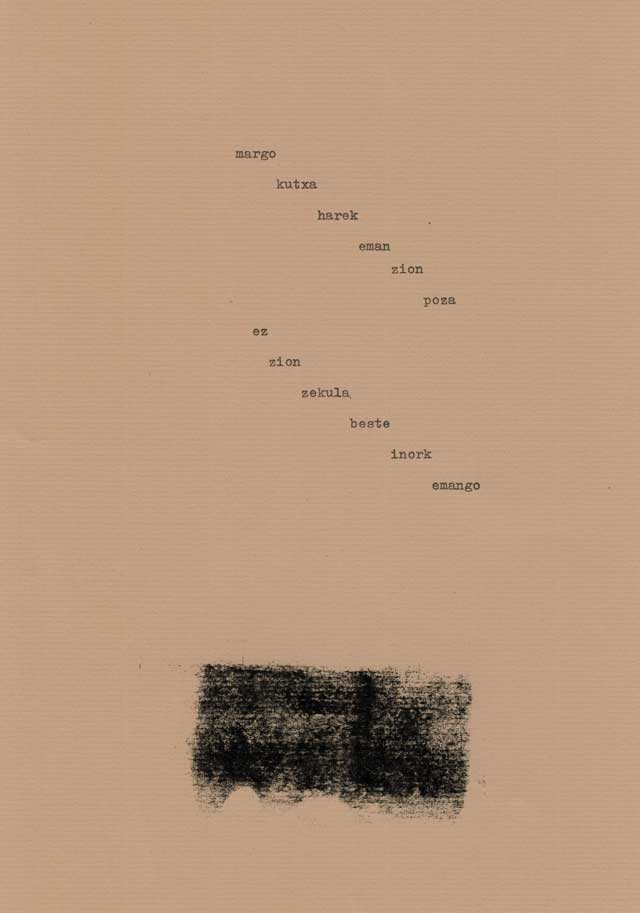 ikus poesia - paper marroia -textu mekanografiatua -bigara