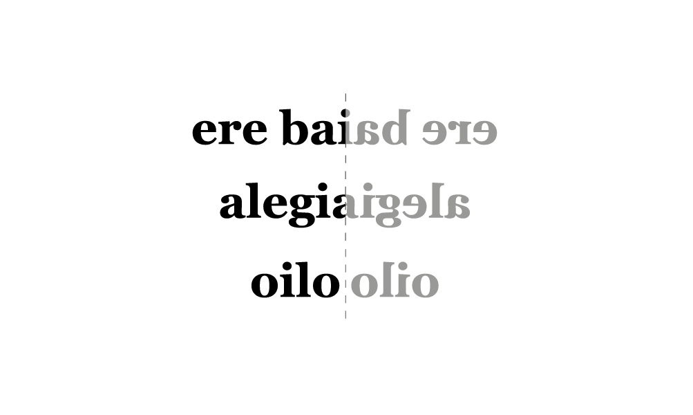 Palindromoa euskaraz - bigara